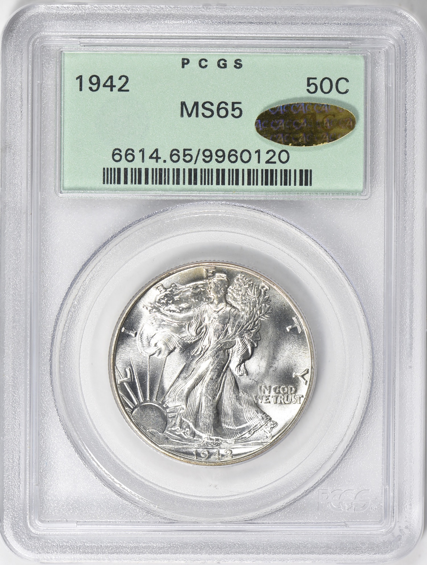 1942 MS65 CAC(Gold) OGH - Acquired 5.26.19 GreatCollections. CC can never resist a gem coin in an OGH with a gold CAC sticker.
