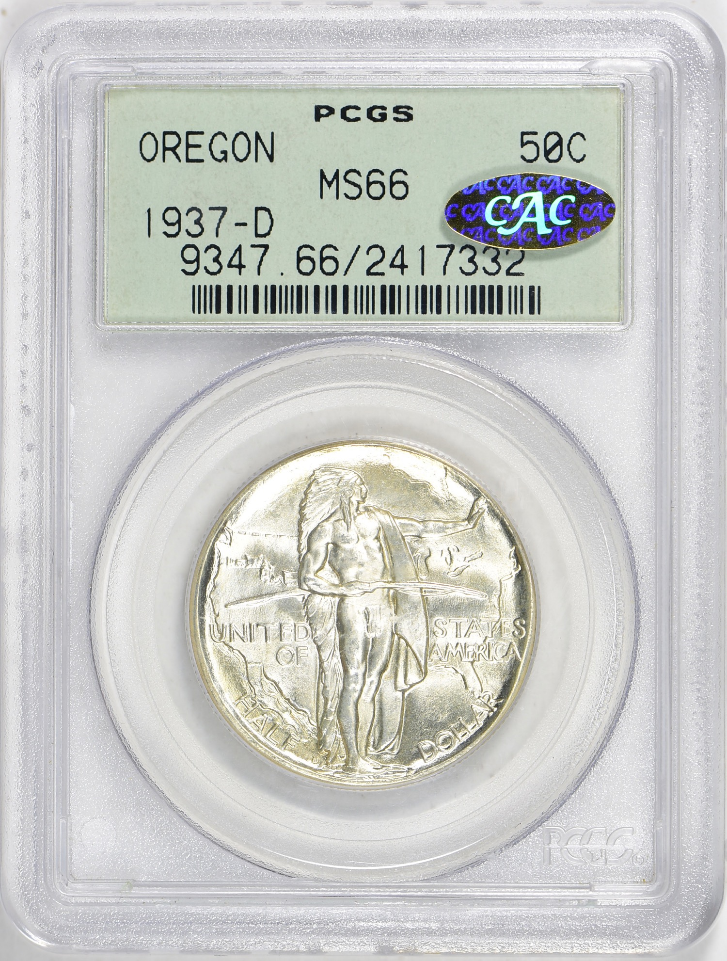 1937-D MS66 CAC(Gold) OGH - Acquired 6.2.19 GreatCollections. Another CAC Gold OGH (sticker looks blue in the picture but it is indeed gold in life).