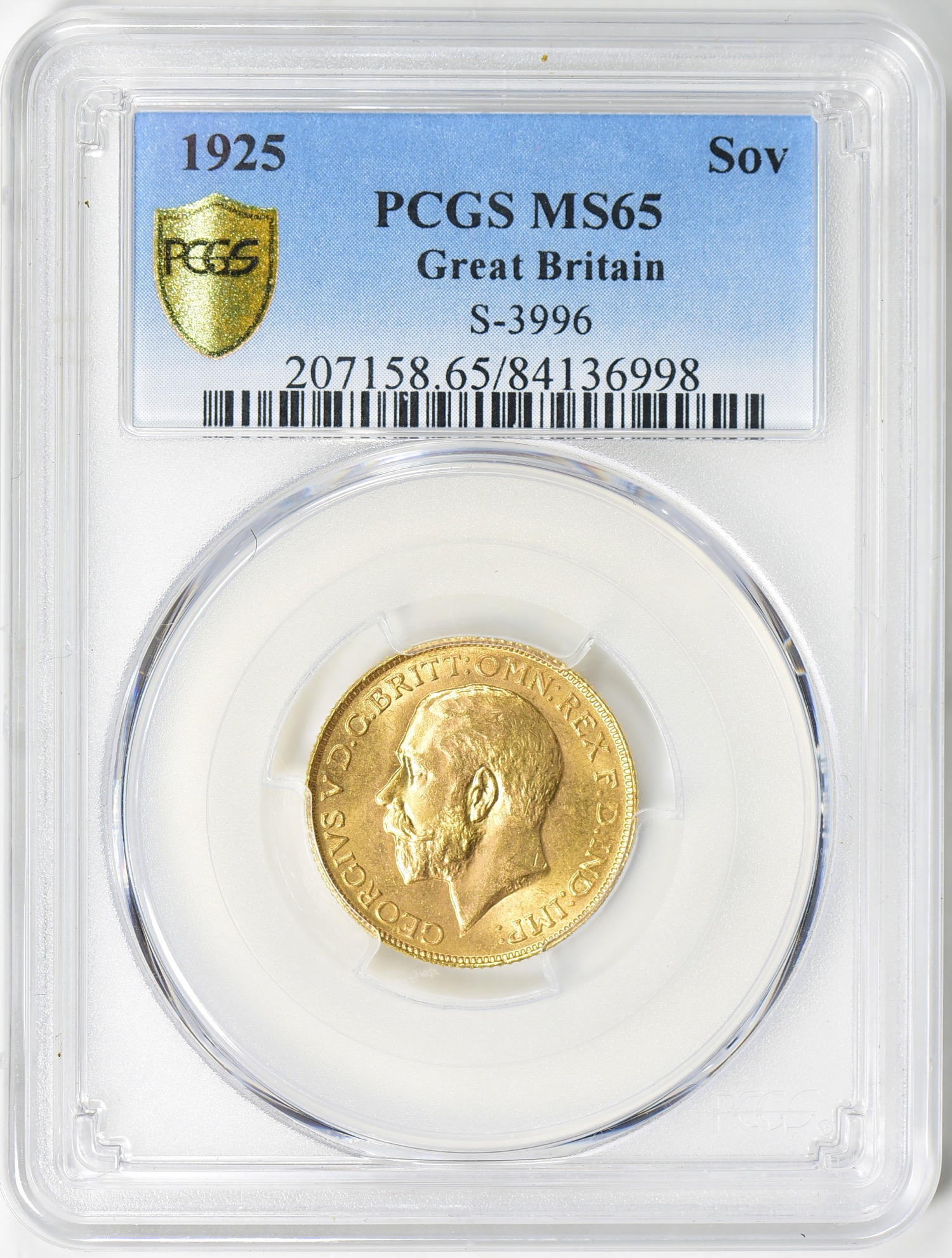 1925 George V Sovereign MS65 - Acquired 8.4.19 GreatCollections. I have wanted a sovereign for some time and noticed this one going for less than spot! Many people trade these like bullion but I think it belongs in the world of numismatics.