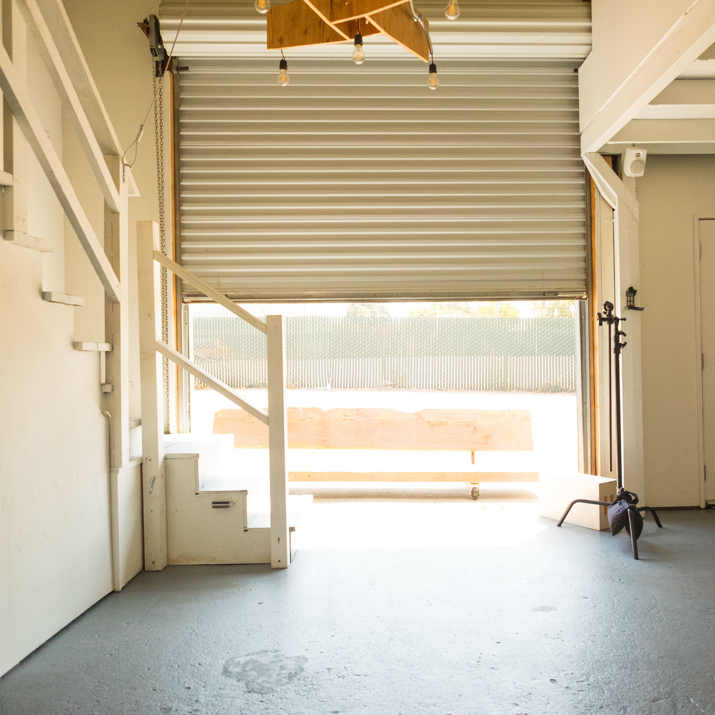 Daylight - A huge door with southern sun exposure and additional windows offer warm, natural lighting. Conversley, blackout blinds can plunge the set into darkness if that's what is called for.