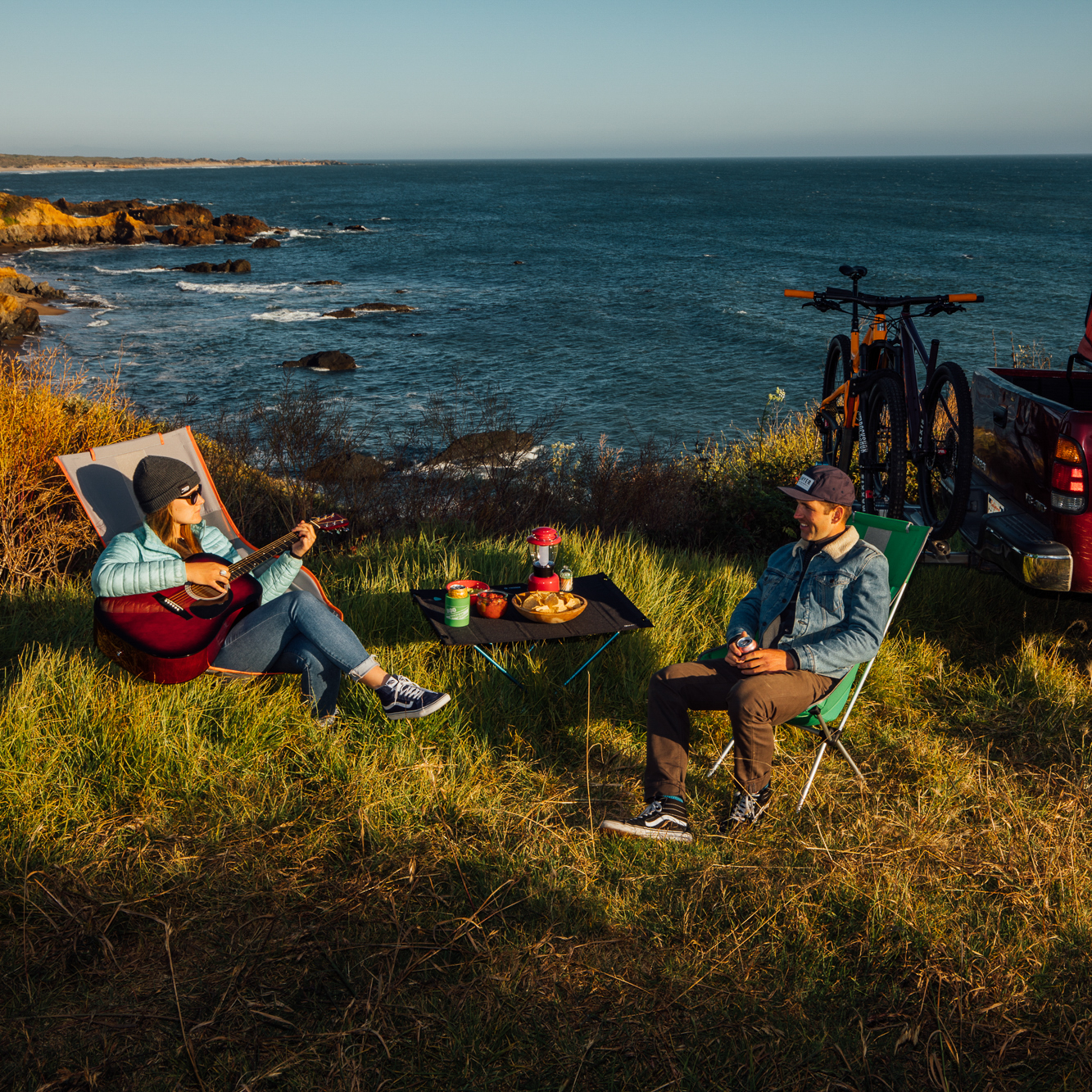 Photo Styling - It's great to be able to shoot something that looks like a camping trip, by just going camping, but that doesn't always fit product schedules, marketing budgets, etc. We were able to have key elements in the images that help to tell a more nuanced and rich story.