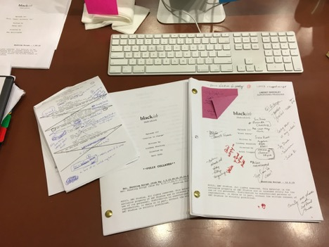 Lindsey's  Black-ish  scripts with notes