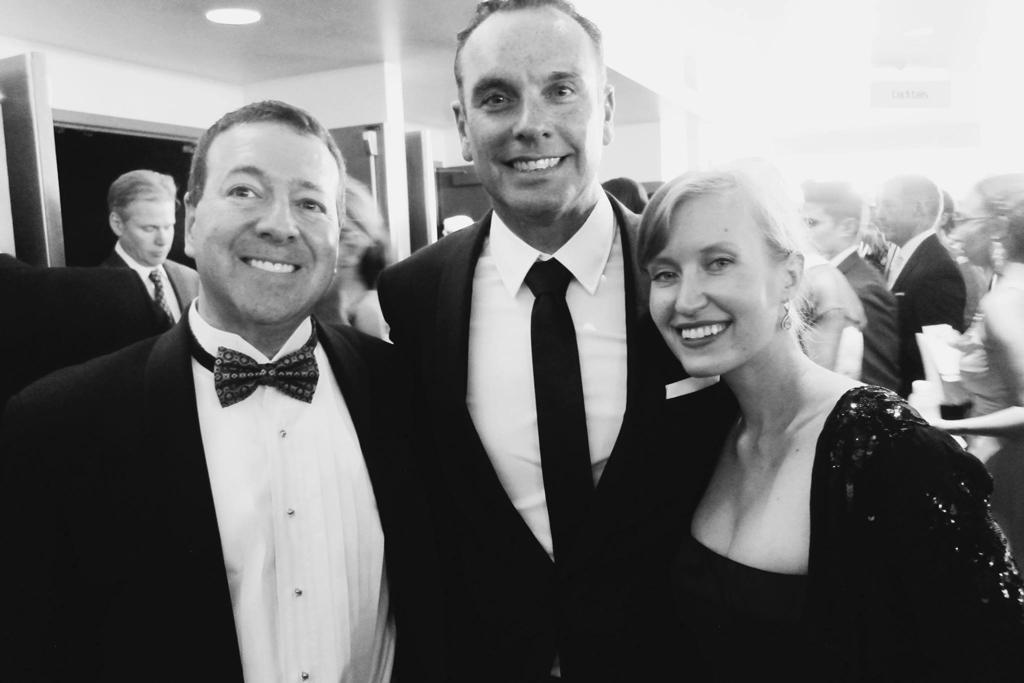 Frank Balkin, WPA partner, WPA DP Dana Gonzales, and Louiza Vick at the 2014 Emmys (Photo courtesy Louiza Vick)