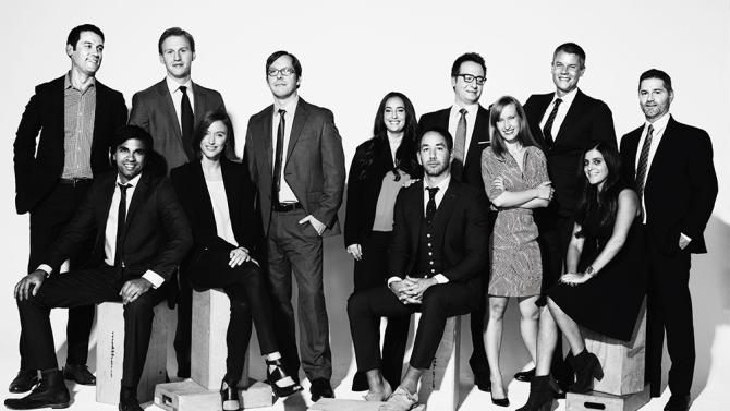 In 2014, Variety named Louiza one of Hollywood's New Leaders. Shown fourth from right. (Photo courtesy Variety.)