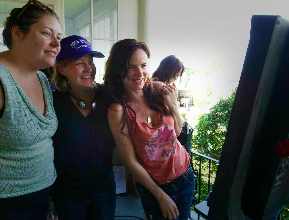 """Writer Amy Lowe Starbin (SCA), director Jen McGowan (SCA) and Oscar-nominated actress Juliette Lewis, star of """"Kelly & Cal"""""""