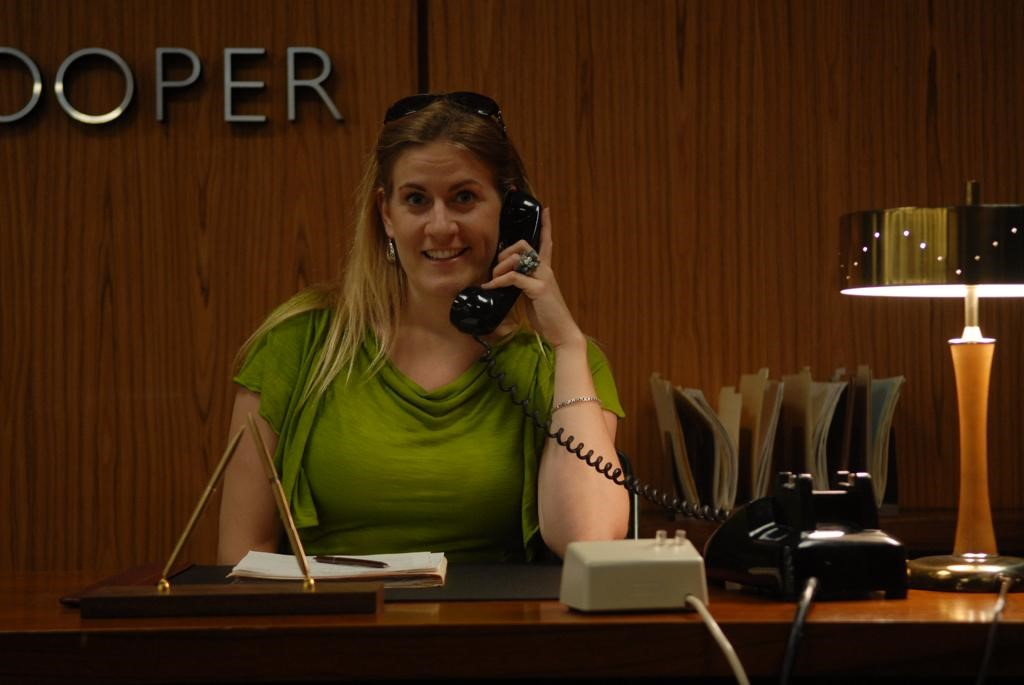 Marcy Patterson on the old Sterling Cooper Mad Men set