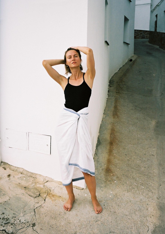 Mysore Yoga Paris Strap Top , Black and  Indian Cotton Savasana Cover