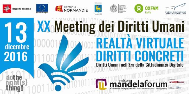 2016 MEETING FOR HUMAN RIGHTS - 2016 Meeting dei Diritti Umani