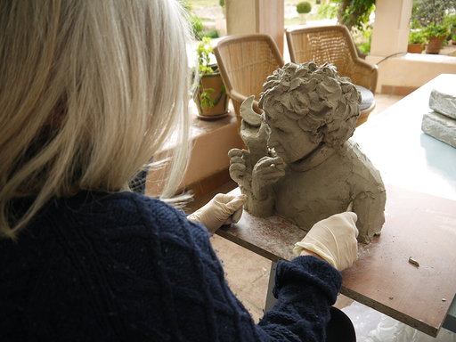 Sculpting at Casa Rosa