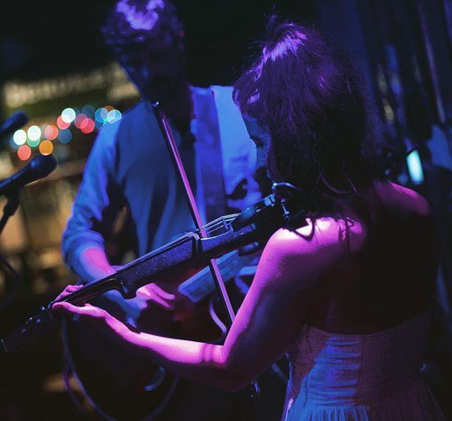Just a little duet. #electric #violin #woman #guitar #man #flannigansrighthook