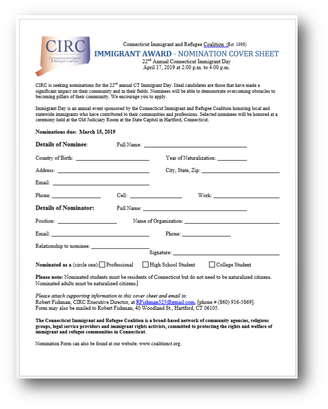 News — CIRC: Connecticut Immigrant & Refugee Coalition