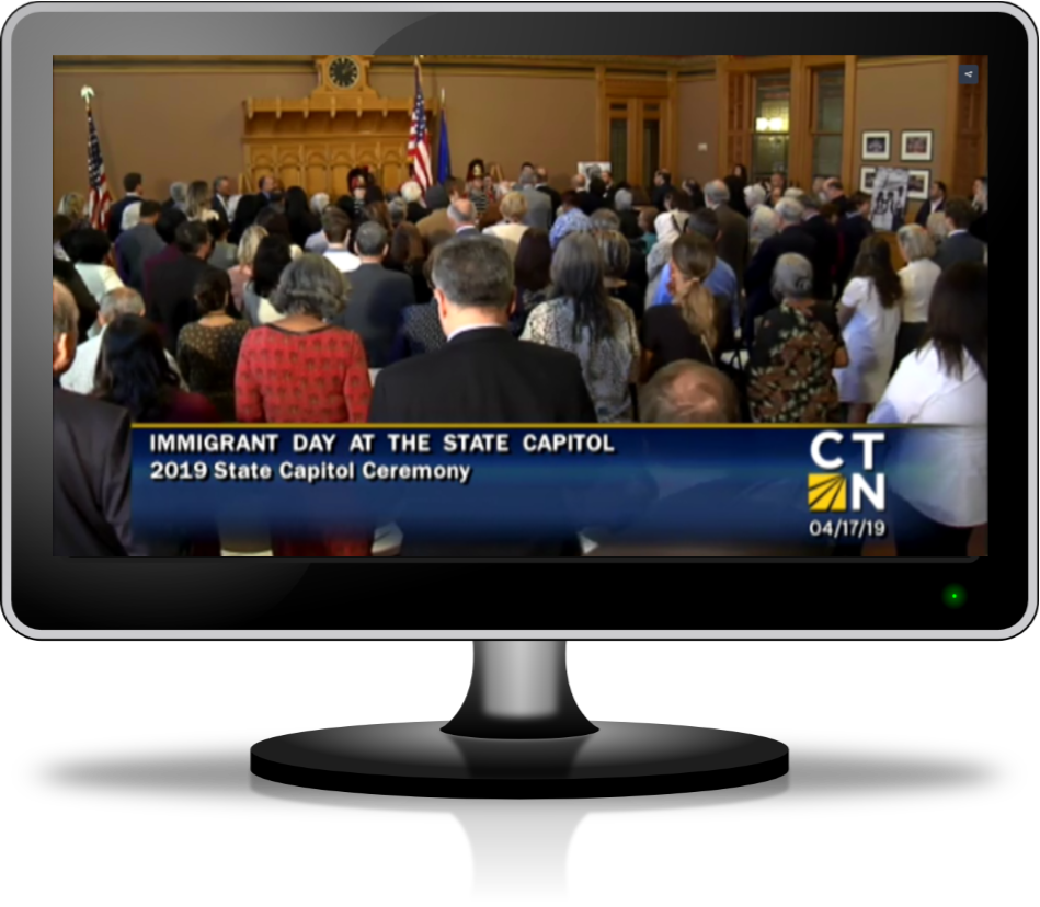 CLICK FOR CT-N VIDEO OF STATE CAPITOL CEREMONY, APRIL 17, 2019