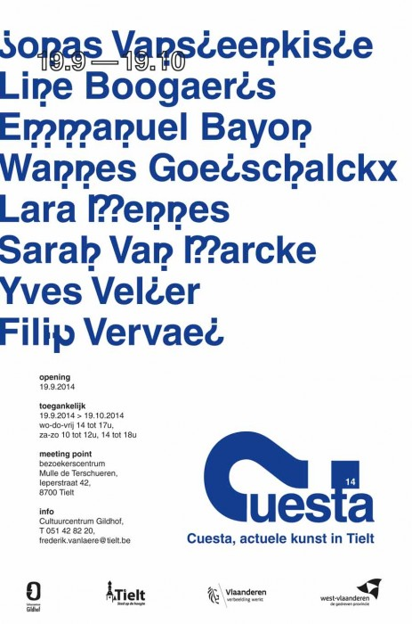 I will present new work, specially made for Cuesta
