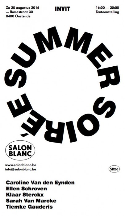 Groups exhibition at Salon Blanc Ostend curated by Els Wuyts