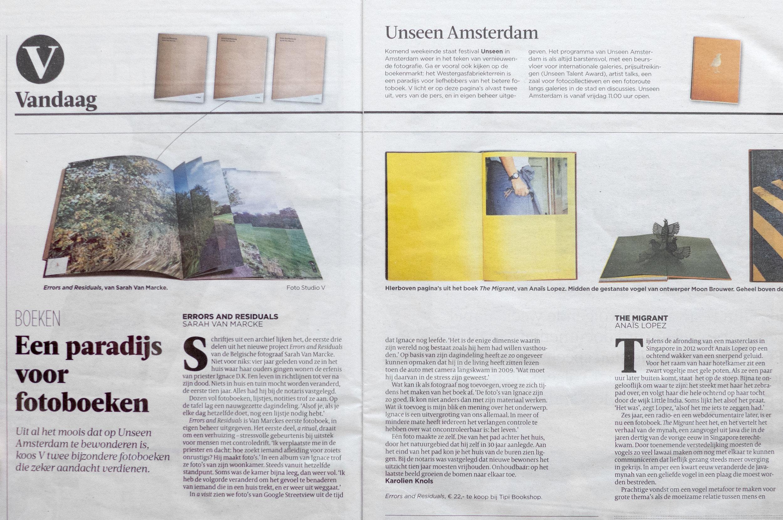 Book review - De Volkskrant - 21 september 2018