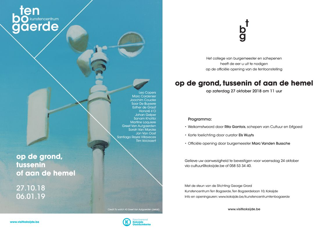 Group exhibition at Ten Bogarde Koksijde - with Leon Copers, Honore d'O, Joachim Coucke and many others!