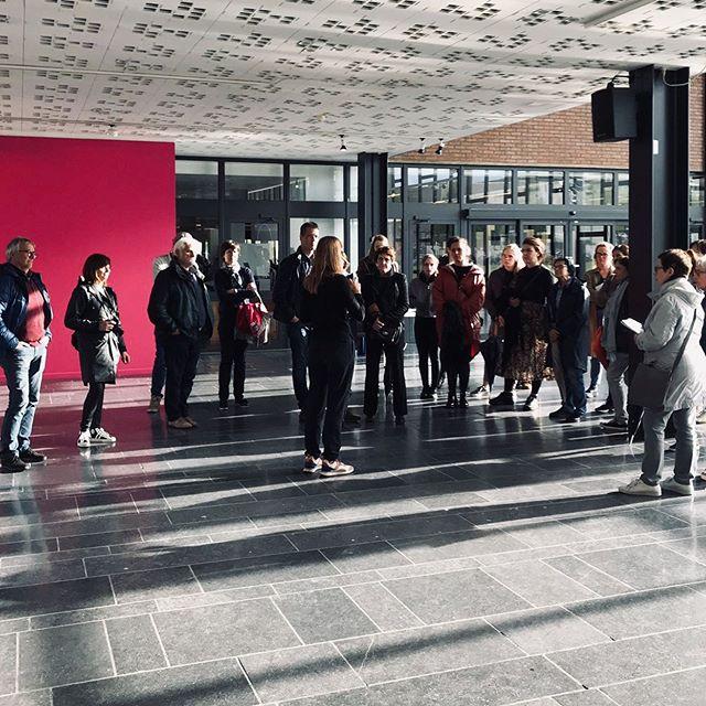 Guided tour yesterday during #kunstennachthasselt at #festivalvandecontrole #cultuurcentrumhasselt #sarahvanmarcke