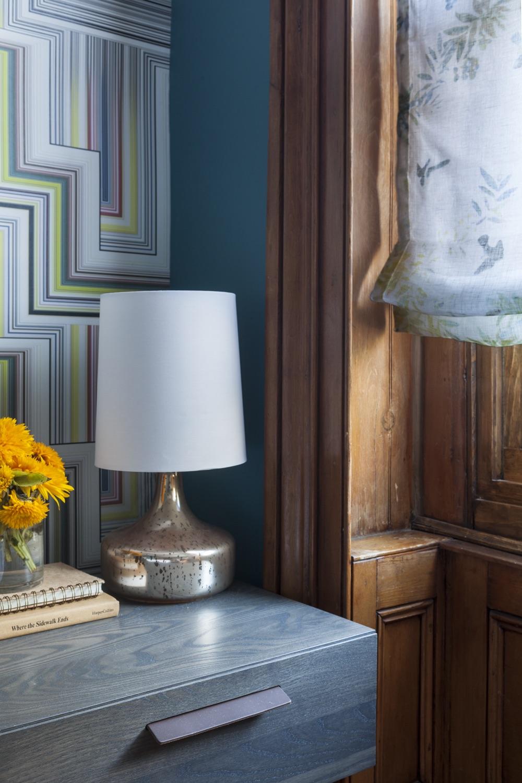 Close-Up-Striped-Wallpaper-Graphic-Yellow-Bedside-Flowers-JMorris-Design-Brooklyn.jpg