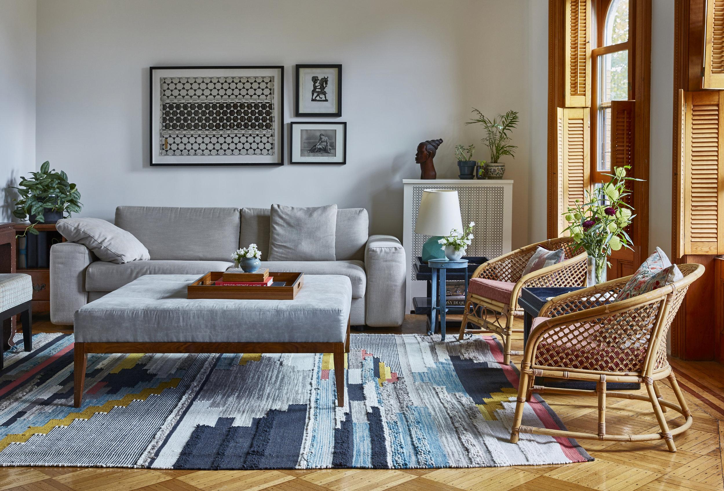 Midcentury Modern Colorful Living Room Park Slope Brooklyn JMorris Design Interior Designer Online