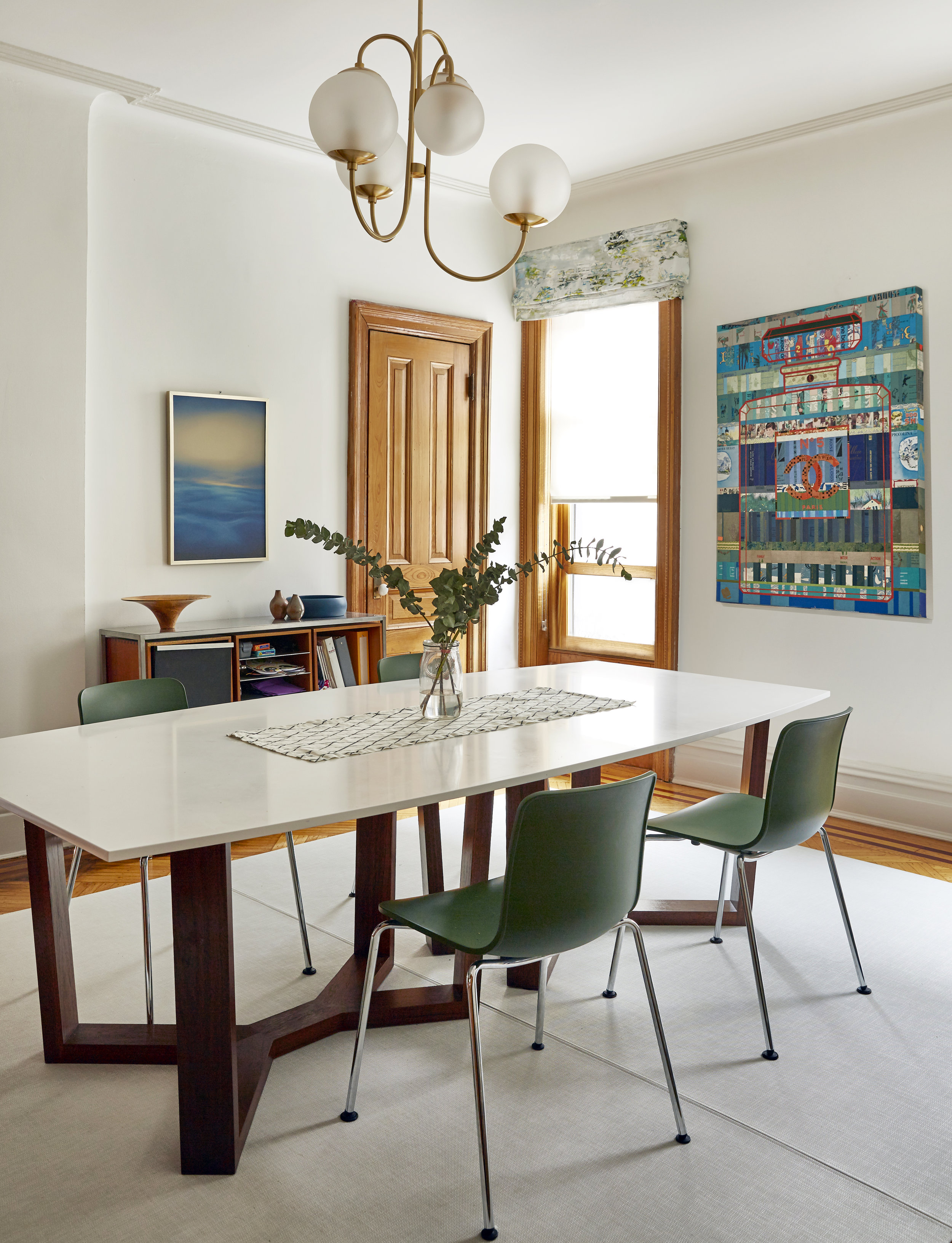 Funky Chanel Collage Dining Room West Elm JMorris Design Interior Designer Brooklyn New York