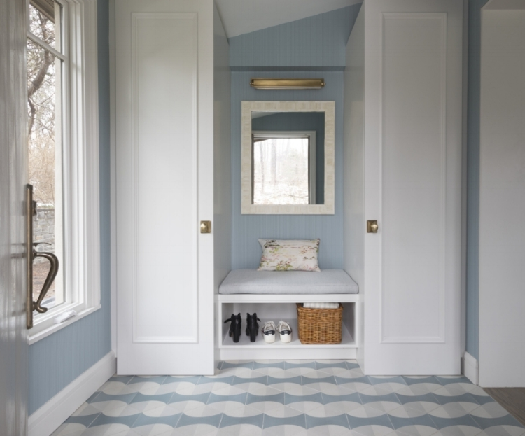 Turn an entry-way wall into an inviting and organized space! From our  Bronx Beauty  project.