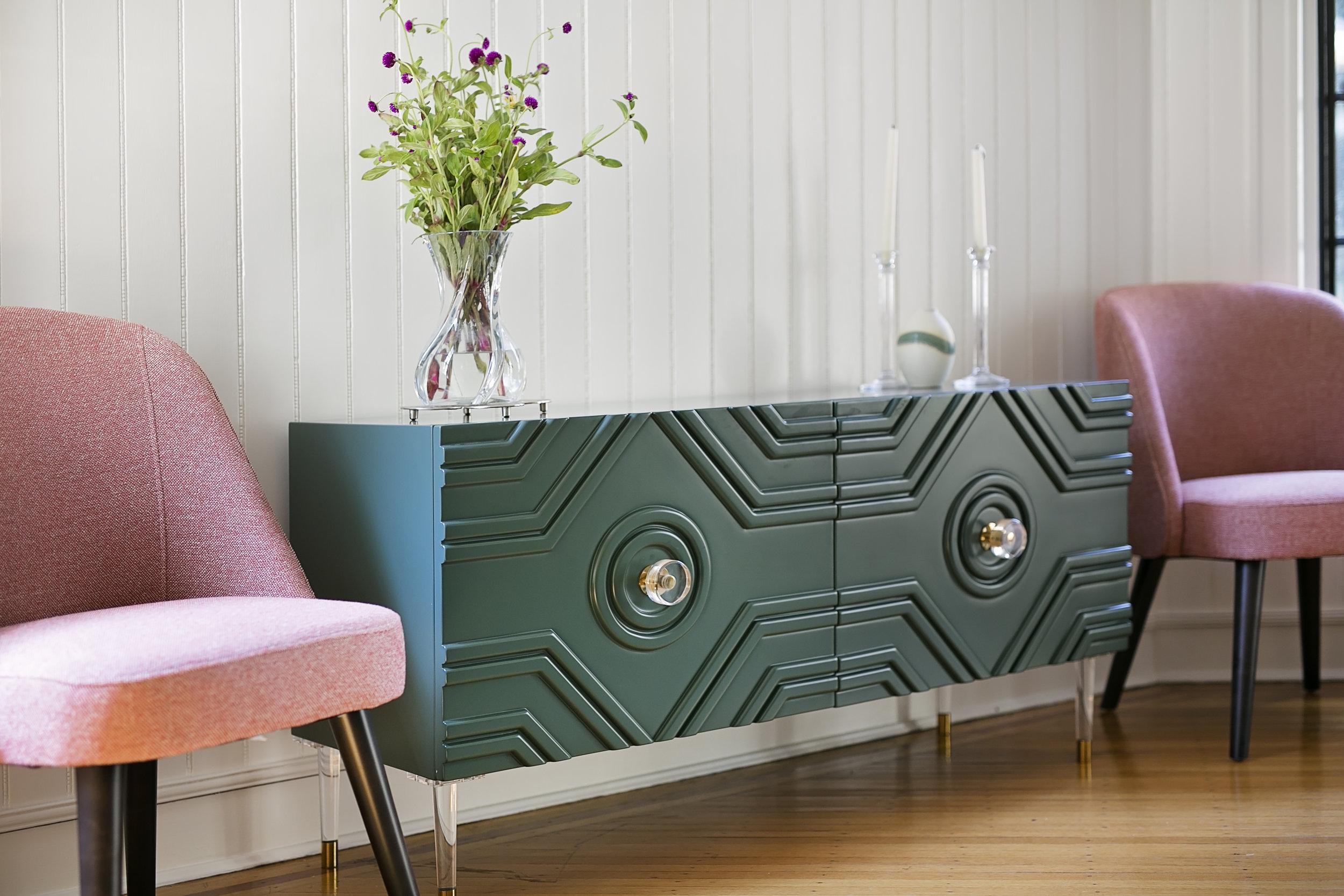 Pink-West-Elm-Chair-Hunter-Green-Credenza-Dining-Room.jpg