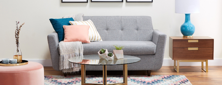 Joybird's 'Hughes' Twin Sleeper Sofa in Taylor Felt Grey