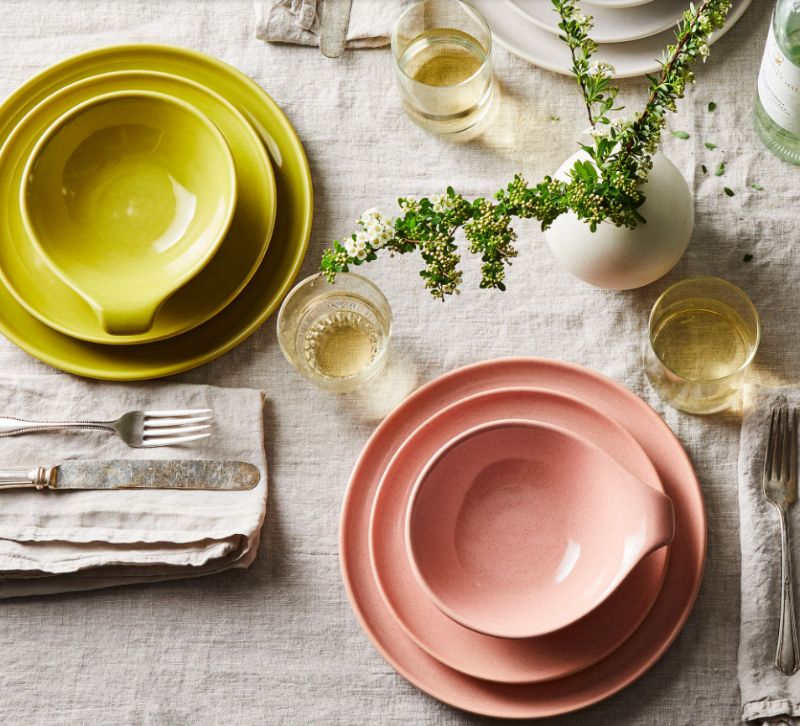 Stunning, coral dinnerware available on  Food 52 .
