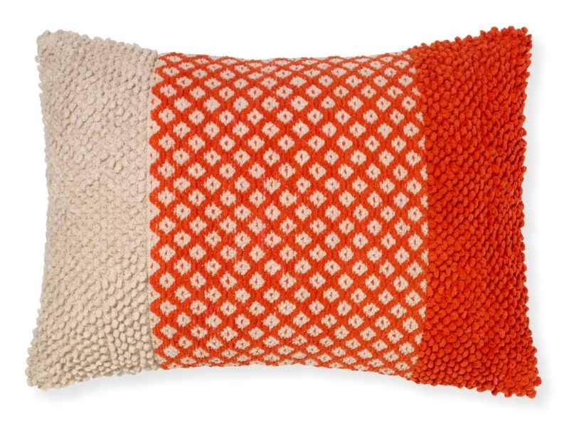 Burke Decor has a wide variety of furniture and design items in a rainbow of colors! Try the  Tigerlily Coral Pillow  by Selemat.
