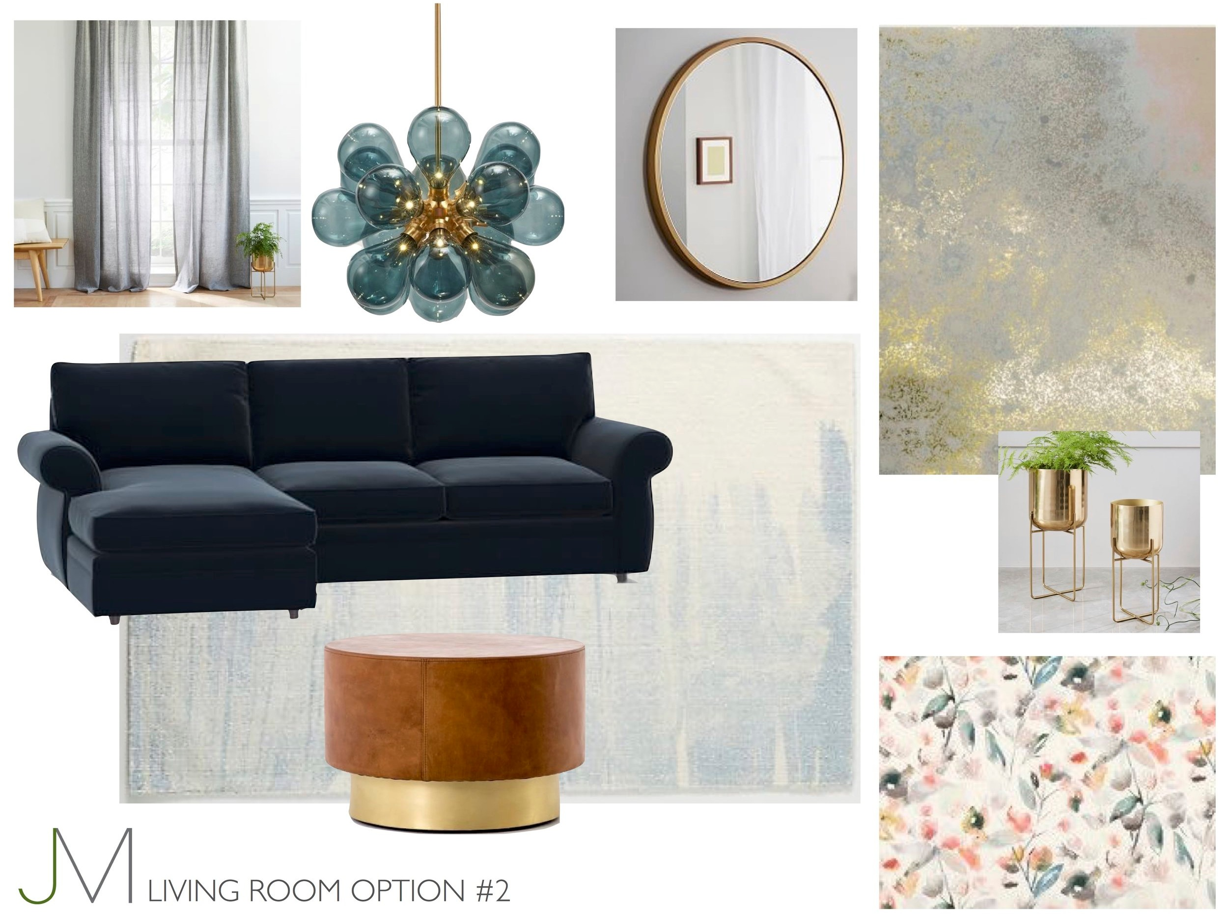 Living room e-design mood board by  JMorris Design