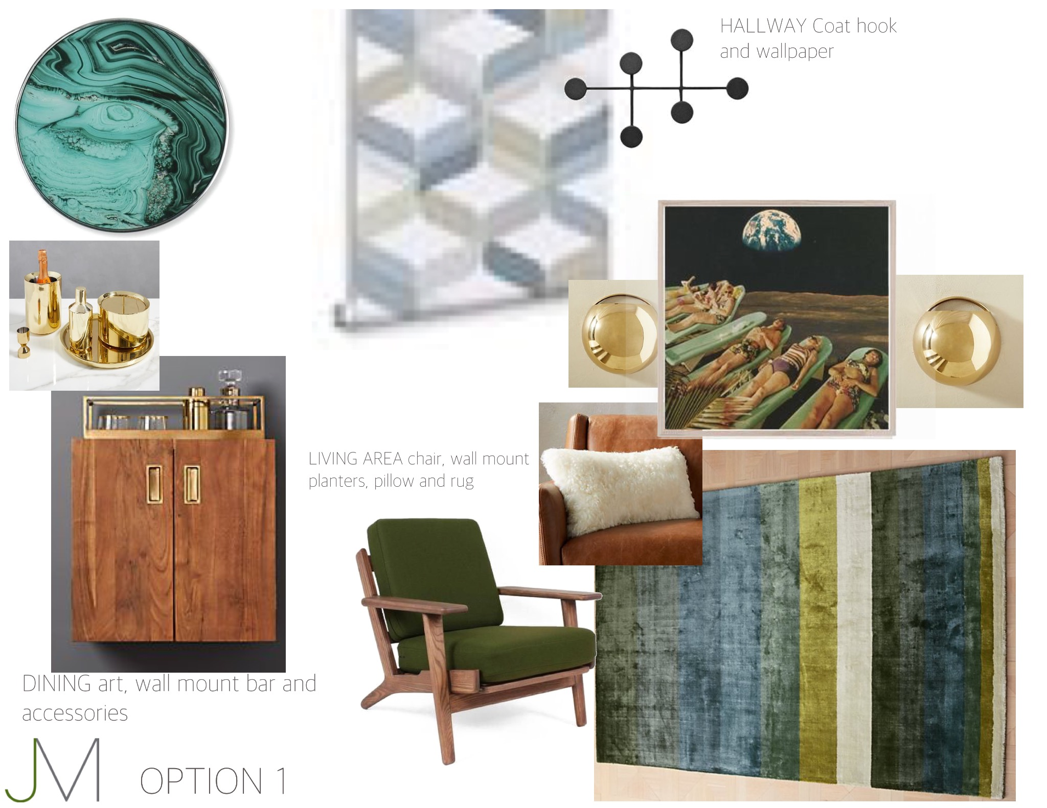Mad Men Made New - Rich, dark wood accents, plush rug, the mandatory bachelor's home mini-bar and sexy, conversation piece art make a cozy, sleek space.