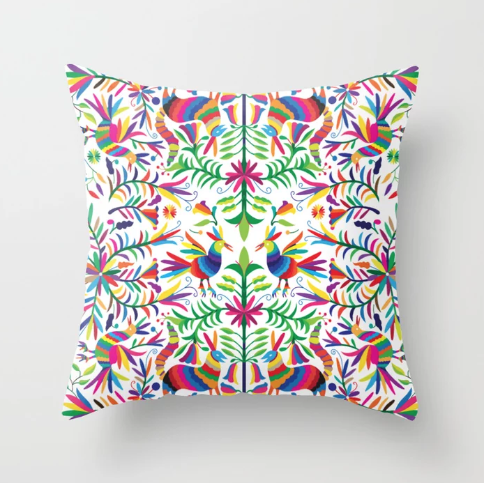 The Otomi Pillow w/ Insert on Society6 by Umiares.