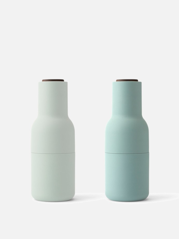 Small, 2-piece bottle grinder  from MenuDesign. Designed by Kasper Ronn @ Norm Architects.