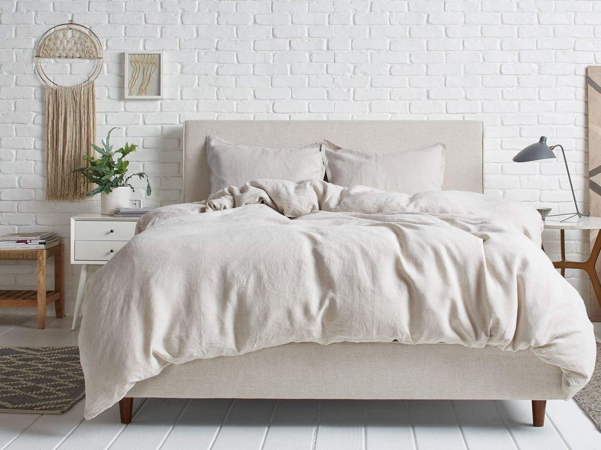 Linen Duvet Cover by  Parachute Home  in Bone.