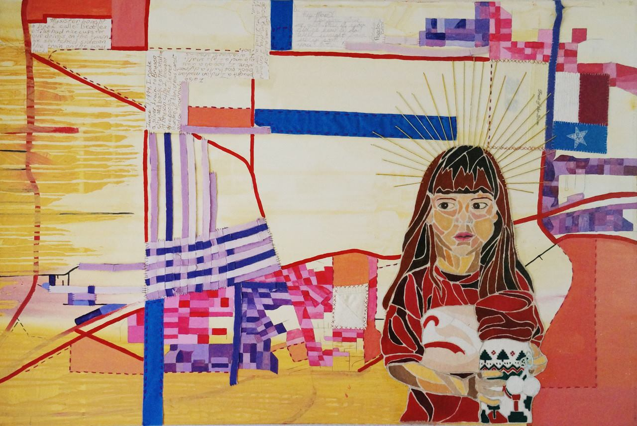 One of the paintings I made while at UCLA. Recognize the little lady?