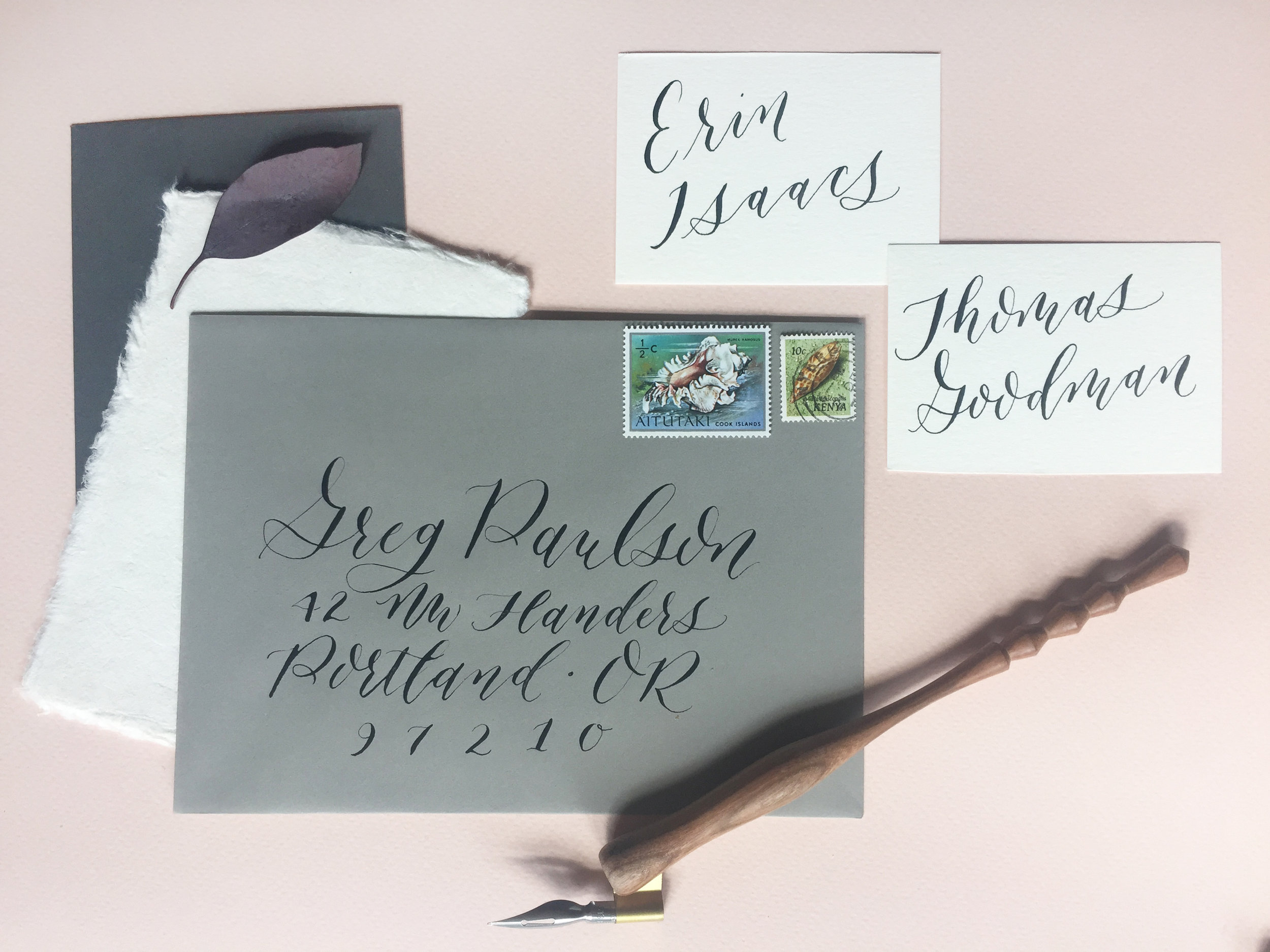 The Deco Oblique Holder from Paper & Ink Arts is featured here!