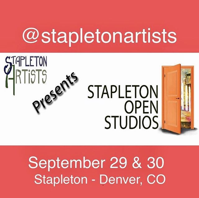 Save the date and join us for a free self-guided studio tour of 24 artists showing at 16 locations! #openstudio #art #artists #artshow #stapletondenver #denver #stapletonartists #stapletonopenstudios #arttour #artforsalebyartist #originalart #handmadeart #originalartwork #denverartevent #localartists #localart #savethedate #upcomingevent #artshowprep