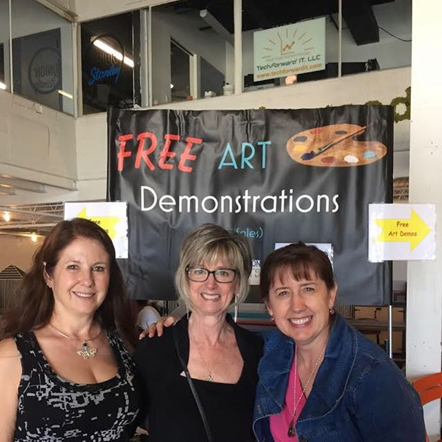 Artists demonstration in stanley marketplace today until 3 pm!! Open studios is September 28-29, 2019  #artist #openstudios #stapletonopenstudios #stapletonartists