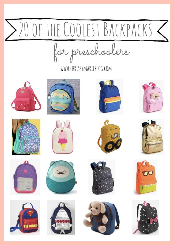 cool backpacks for preschoolers