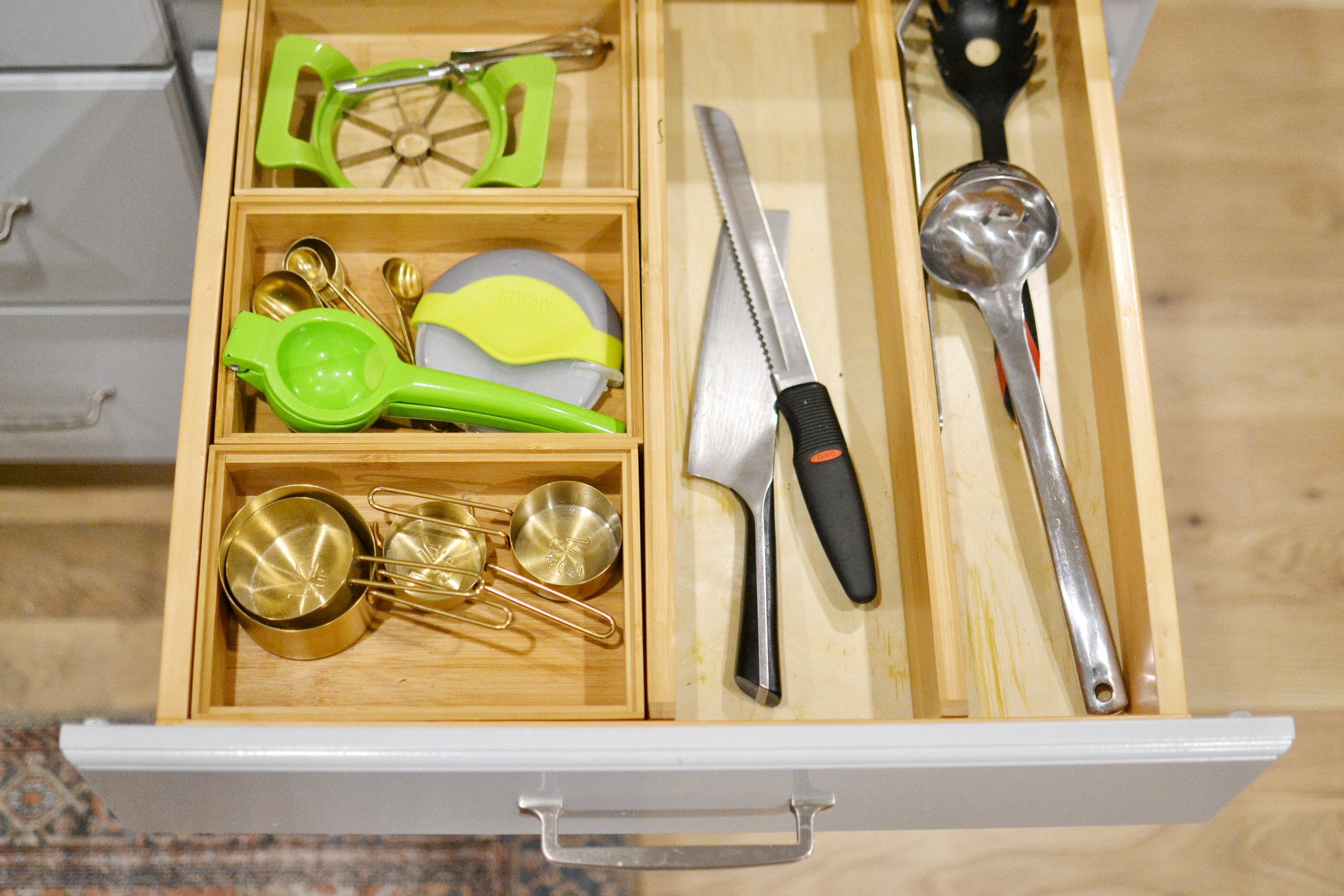 Our Home: The Pantry + How I Organized My Kitchen On a Budget. Drawer Organizers