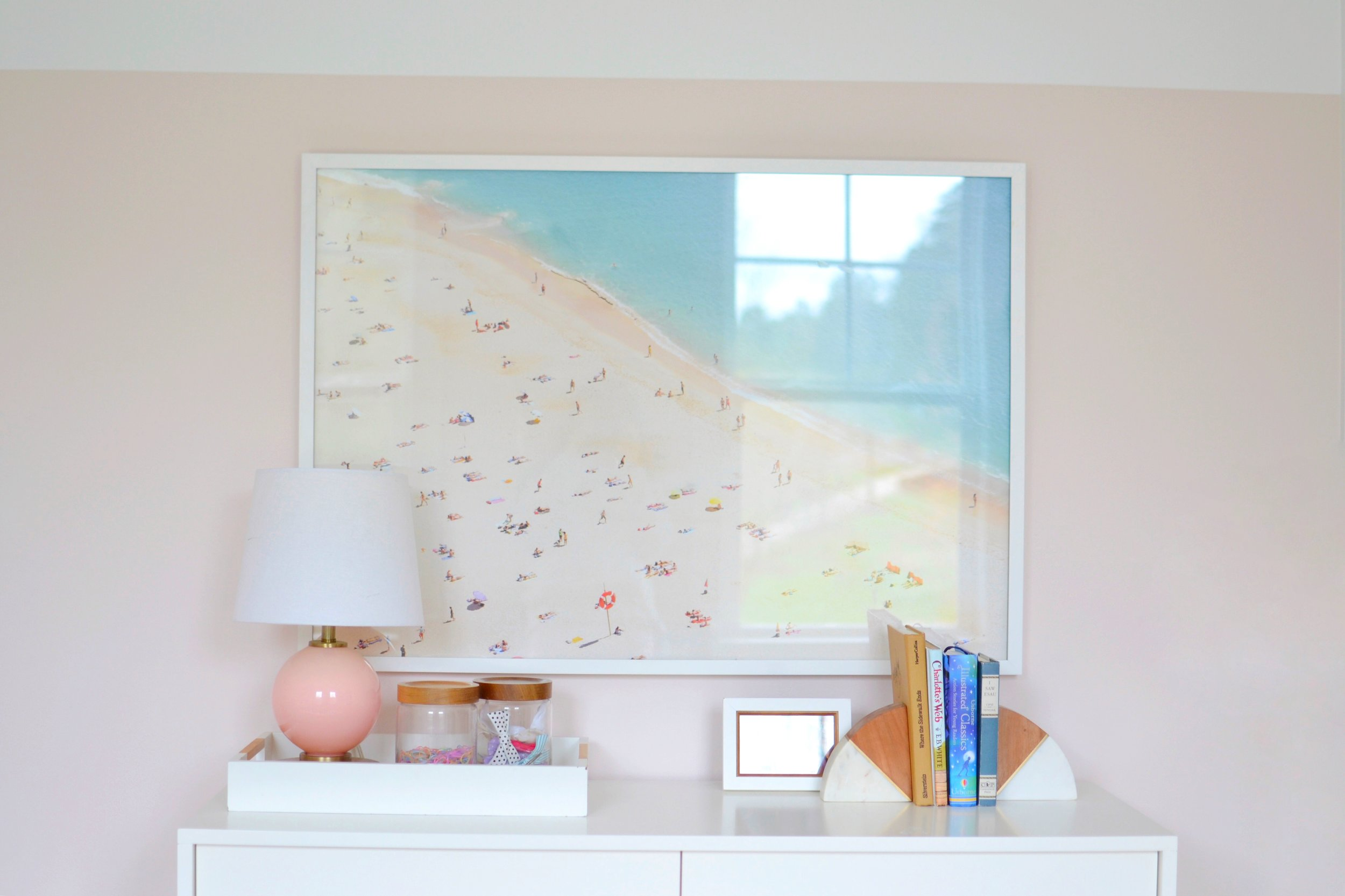 A DIY Gray Malin, or How to Make Affordable Oversized Beach Art!