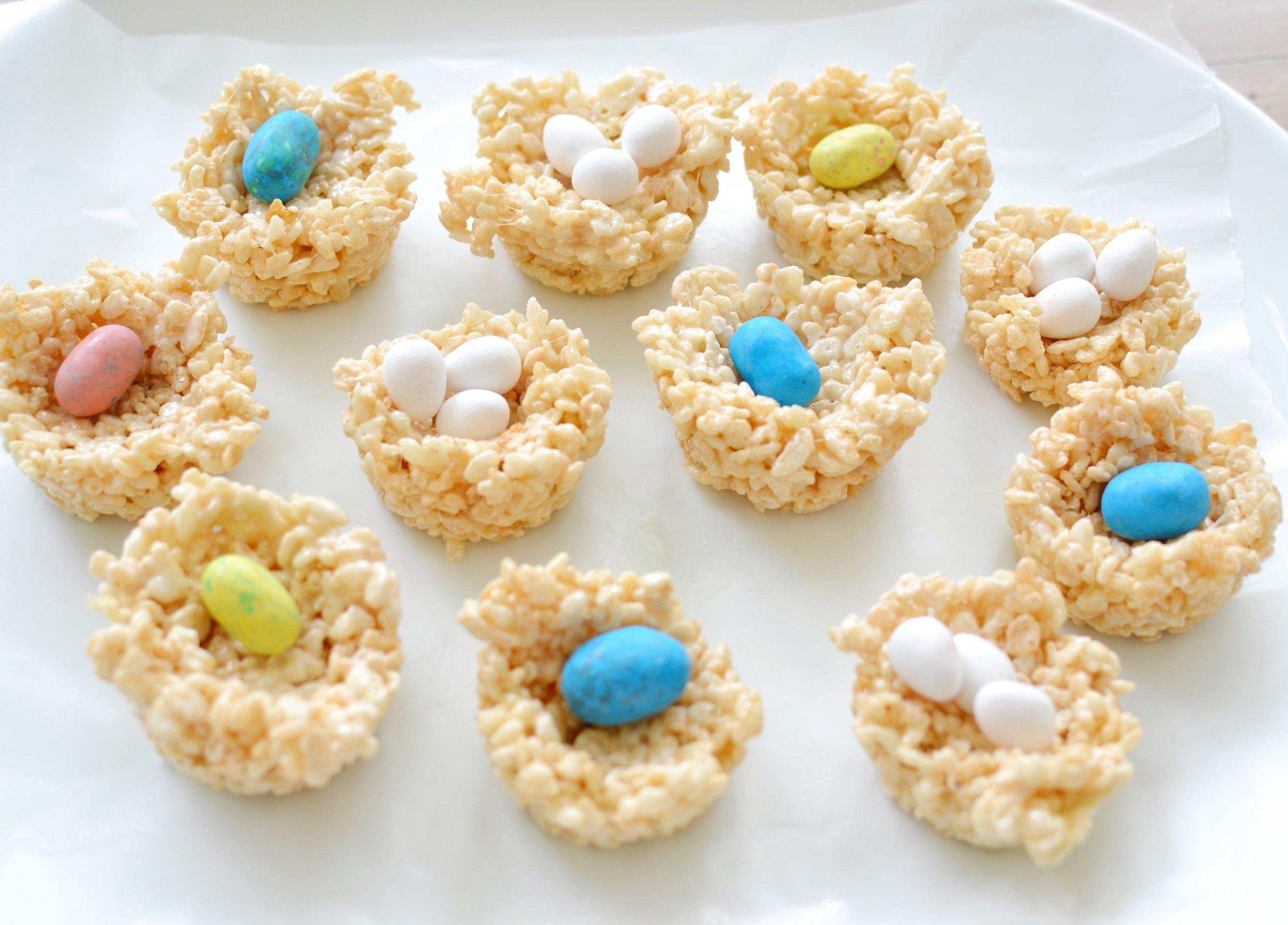 Rice Krispie Treat Bird Nests For Easter Or Spring Break