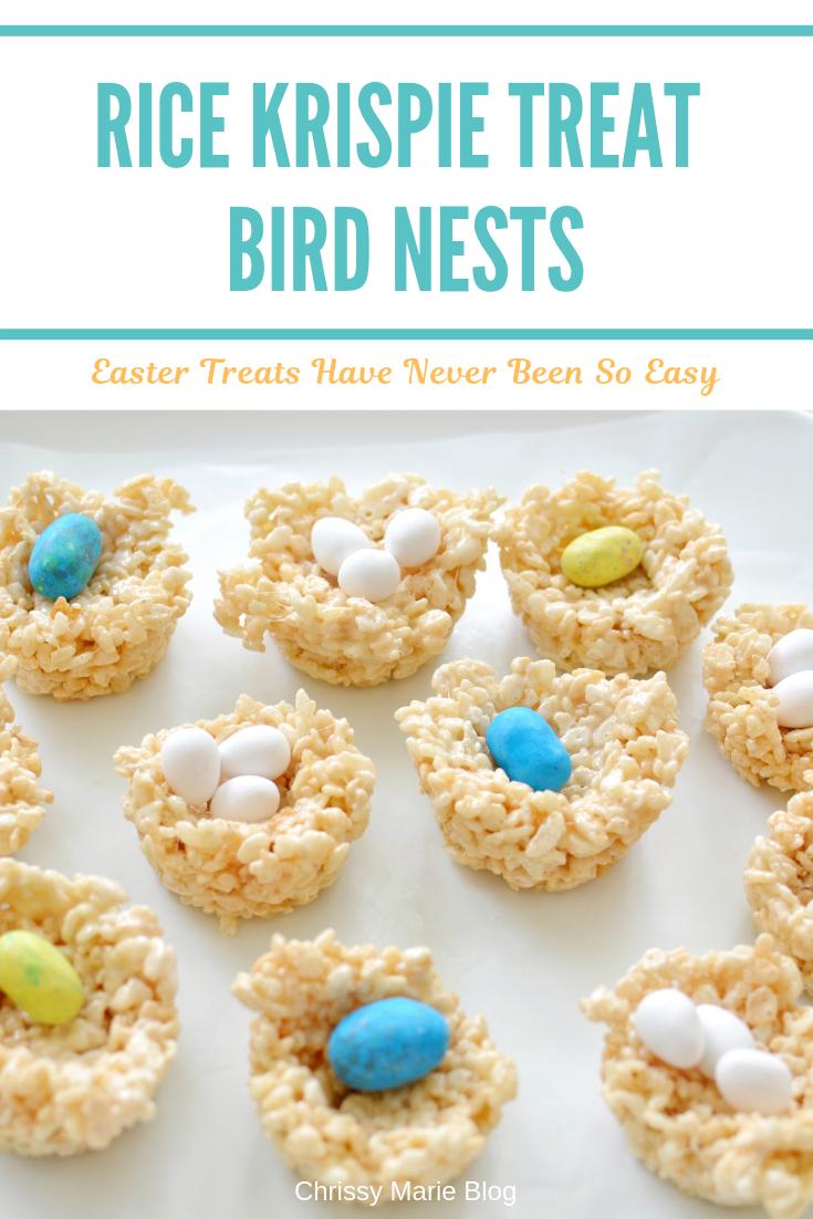 Rice Krispie Treat Bird Nests