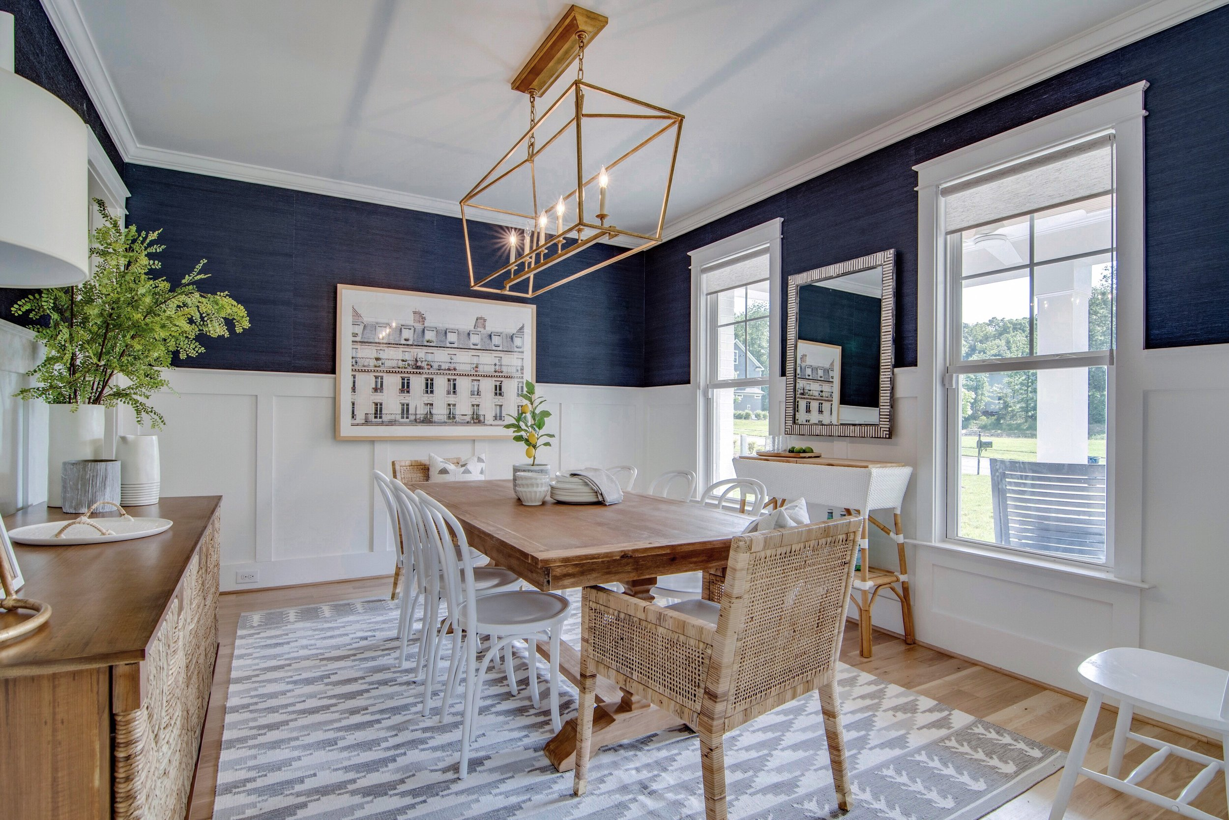 Dining Room Reveal Navy