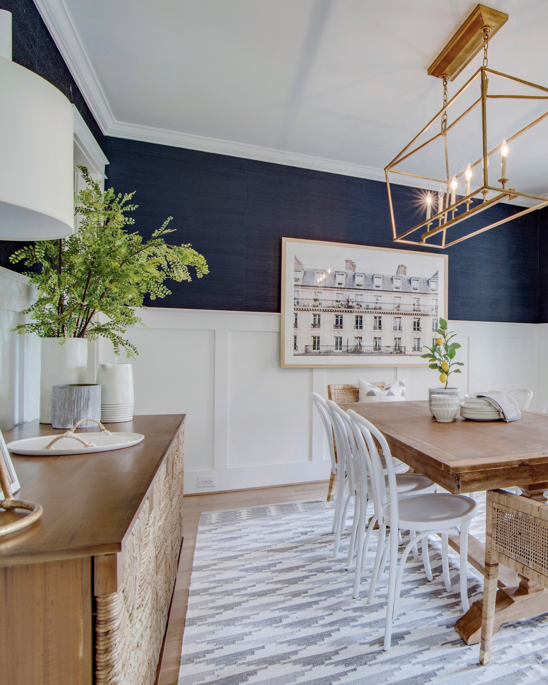 The Navy Wallpapered Dining Room Reveal!