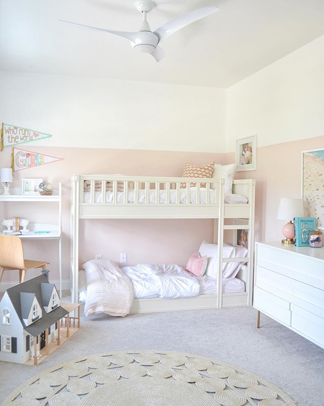 ⁣ The details/pics of the girls' shared room is up on my blog. I was waiting to share until I found the perfect big rug, but I never could find one or even decide what I wanted. 🤷🏽‍♀️⁣ ⁣ Sometimes it's better to just make things happen rather then wait for it to be perfect!! ⁣ ⁣ ⁣ ⁣ #inspiremeneutral #interior123 #myinspiredhouse #sodomino #theeverymomathome #bhgstylemaker #mykidsdigs #kidsrooms #howyouhome #housetour #homerenovation #cottagestyle #currentdesignsituation #interiordesign #oldhomelove #interiorloves #topstylefiles #coastalliving #mypotterybarn #homegoals #girlsroominspo #pinkrooms #pocketofmyhome #raleighnc #makehomeyours #hgtvdesign #durhamnc @potterybarnkids @westelm @westelm_durham #lovemypbk #projectnursery