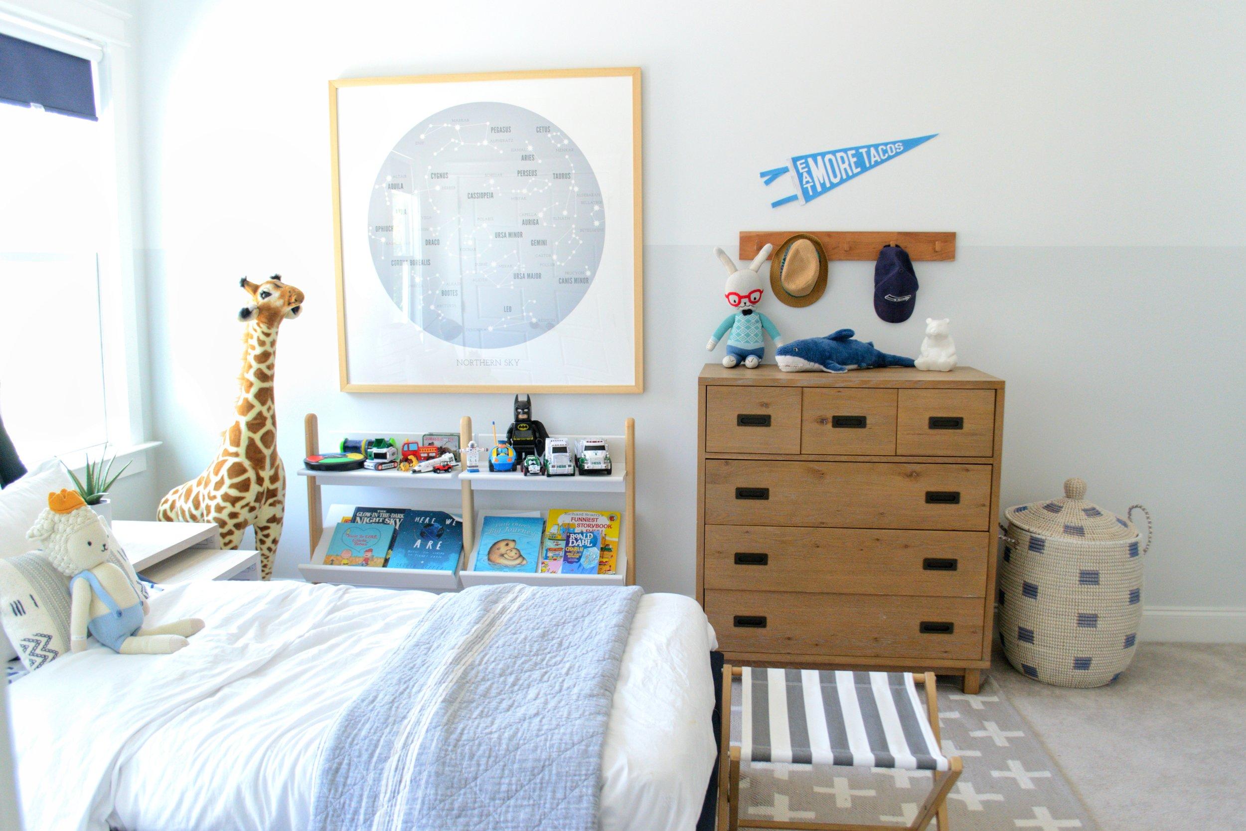 Sharing A Coastal + Fun Boys Room On The Blog