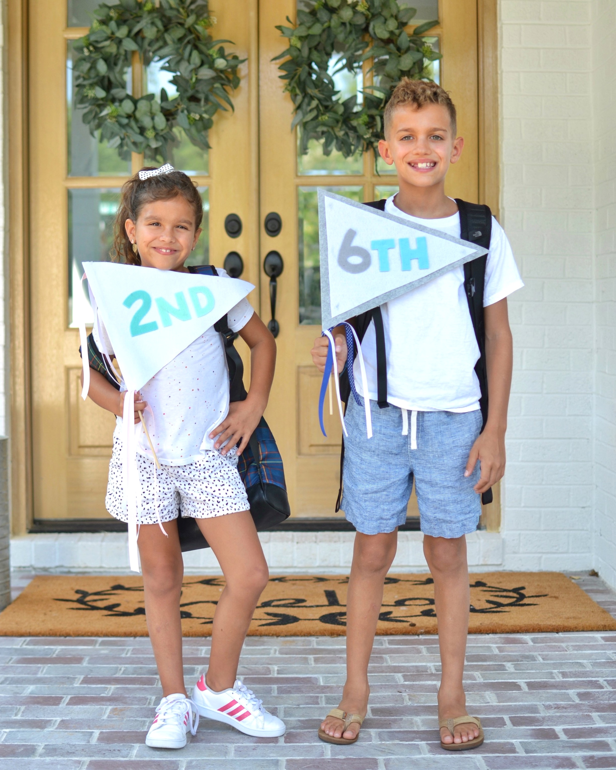 First Day of School Pennants DIY