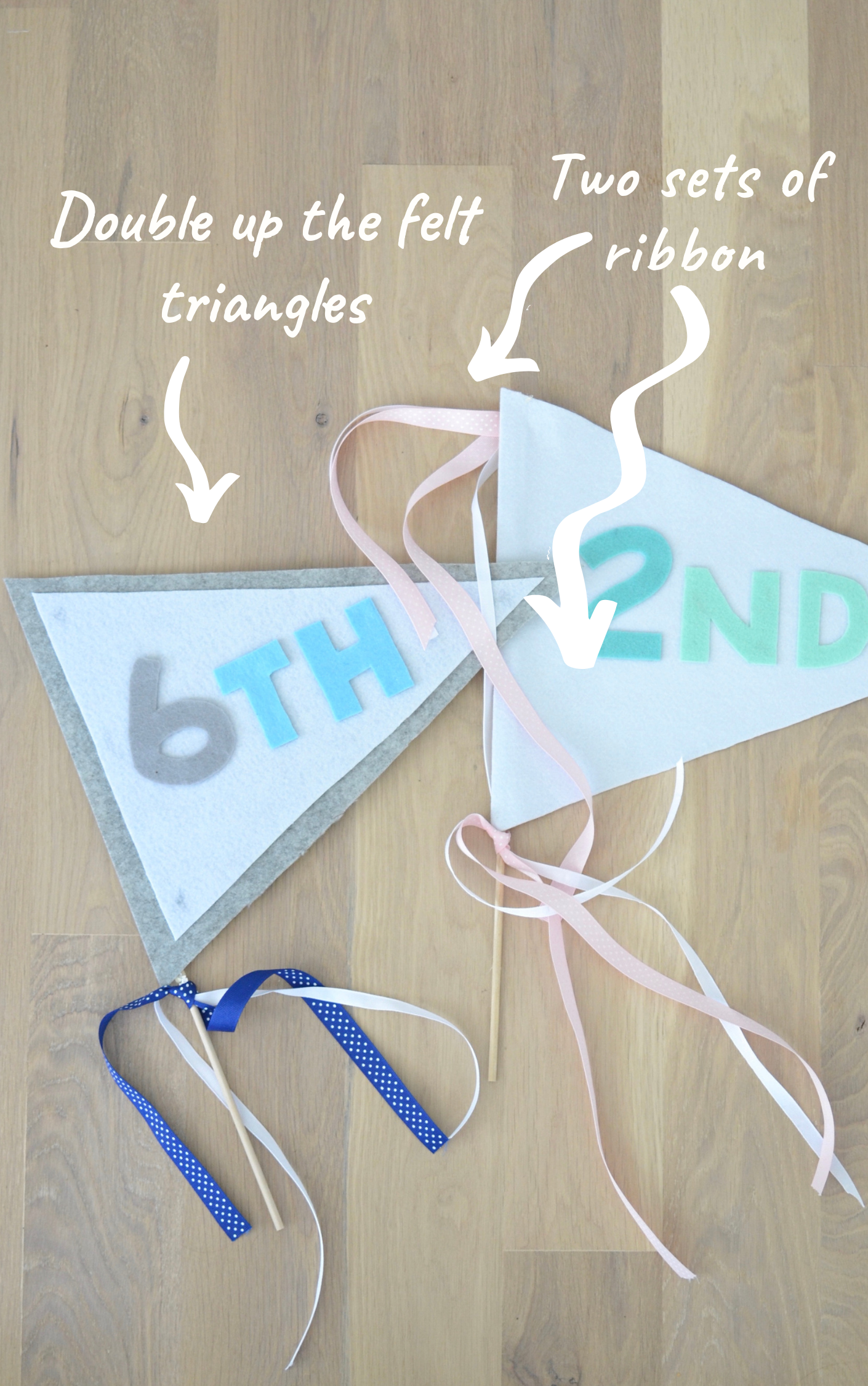 DIY First Day of School Pennants!