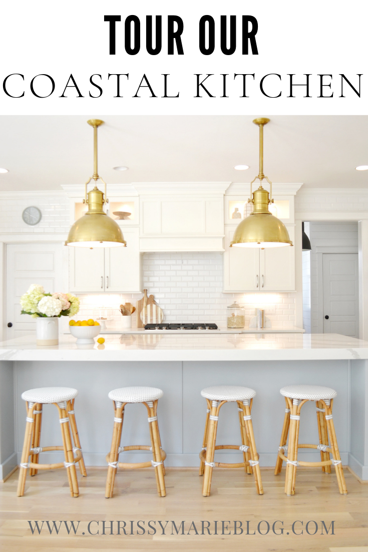 Our Coastal Kitchen Design - Take a Tour With All The Details!